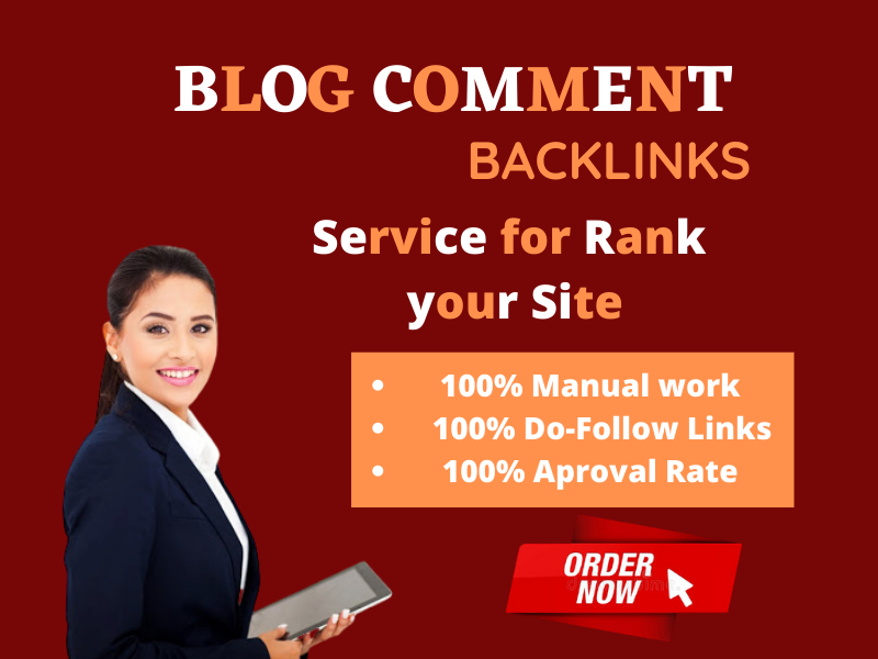 I will make 100 high quality blog comments backlinks.