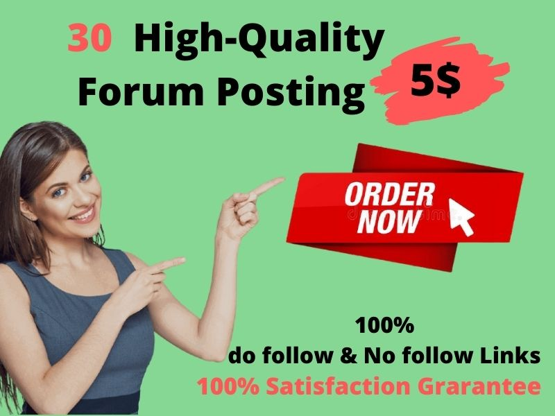 I Will create 30 High-Quality Forum Posting