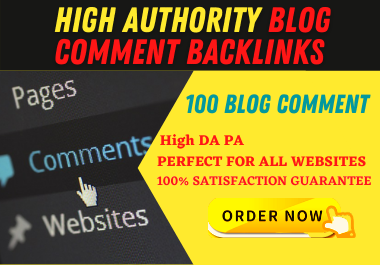 I will create 100 Blog Comments on High PR