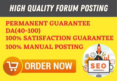 I will create 30 manually HQ Forum Posting Backlinks