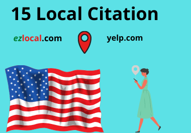 I will do 15 USA local citations for your business
