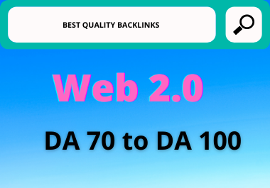 Web 2.0 blogs Dedicated accounts Backlinks