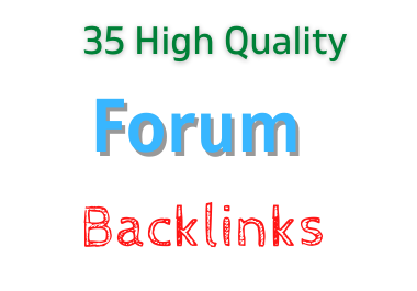 I will create 35 hq do follow forum backlinks
