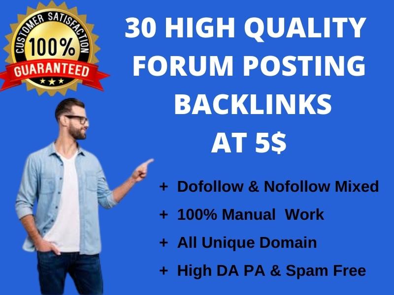 I will provide you HQ da forum backlinks