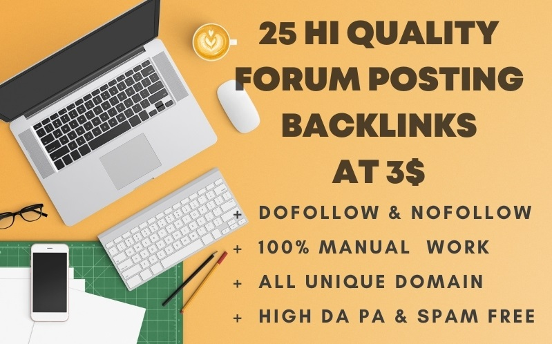 I will create 25 high quality forum backlinks
