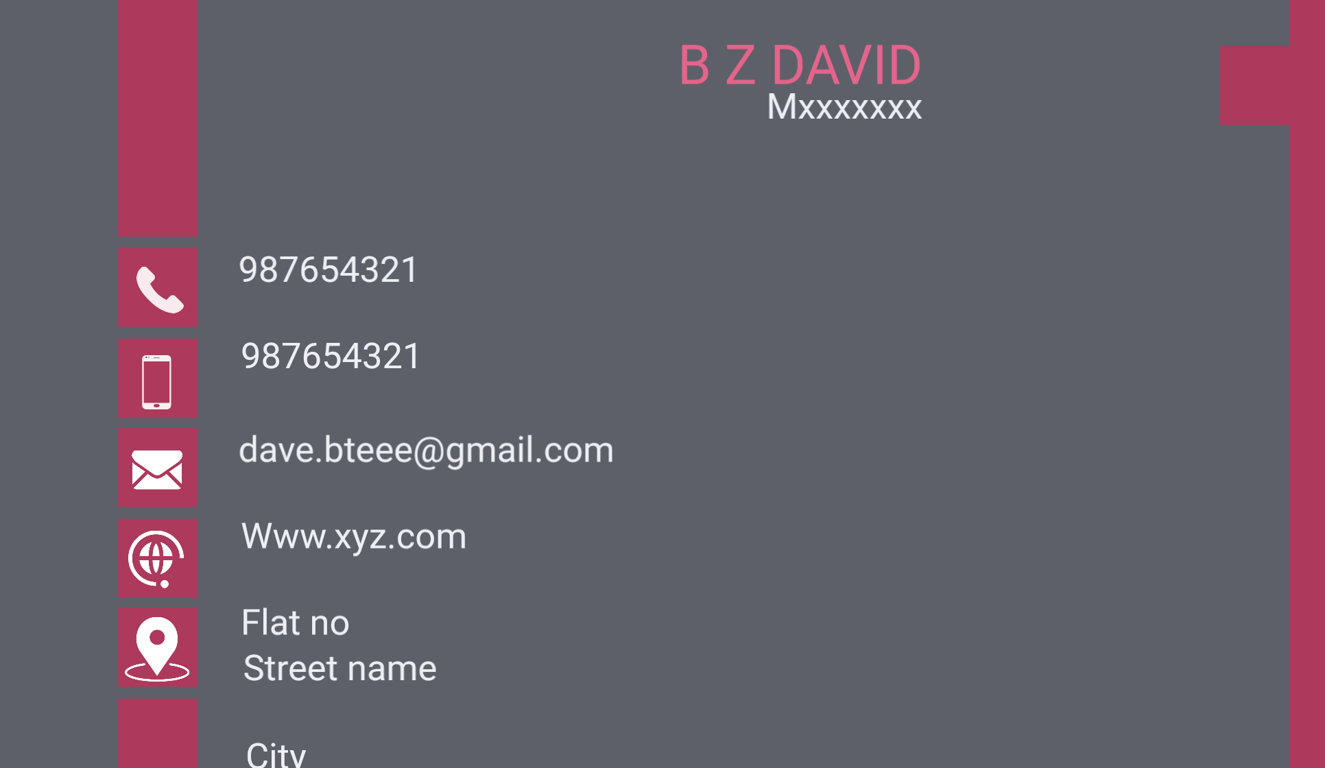 Business card Professional and print ready PDF/PNG