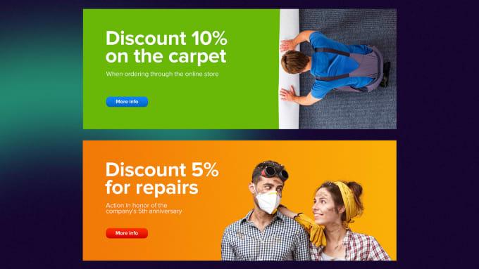 I will design professional web banner, slider, fb ad, flyer