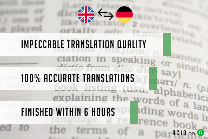 I will expertly translate english to german or german to english
