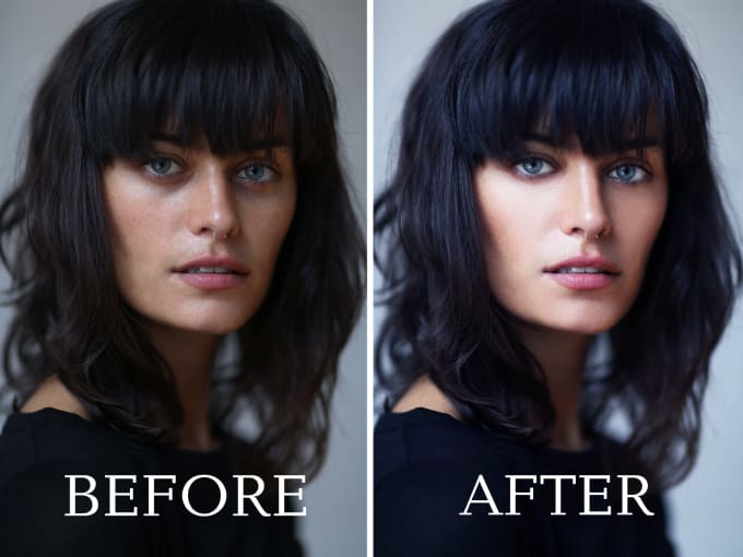 I will do skin retouch, picture editing, picture enhancement