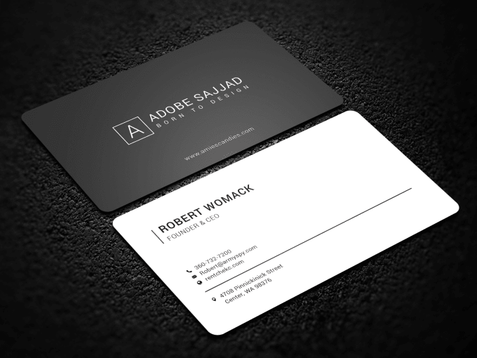 I will design minimalist business cards