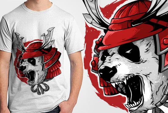 I will make animal illustration for t shirt clothing