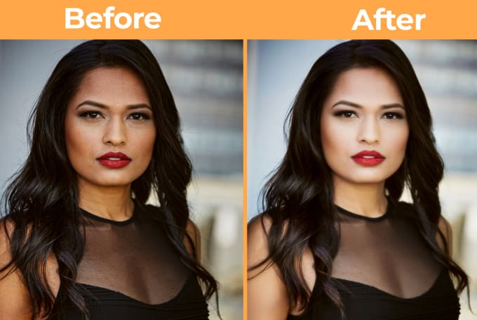 I will do 2 image retouching,  portrait,  skin and images editing