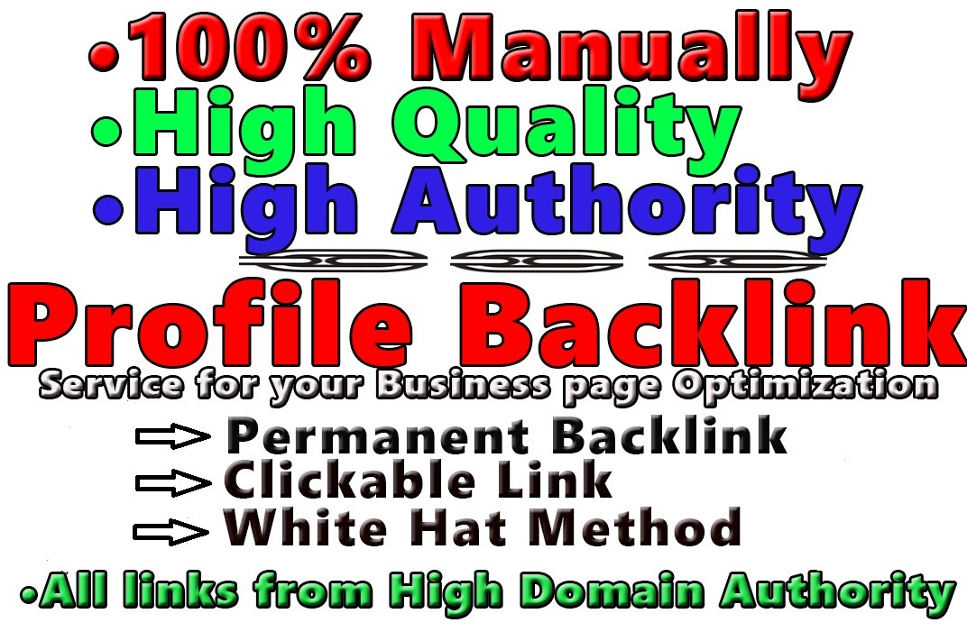 Create 200 High Quality Profile-Backlinks With High DA 50-100