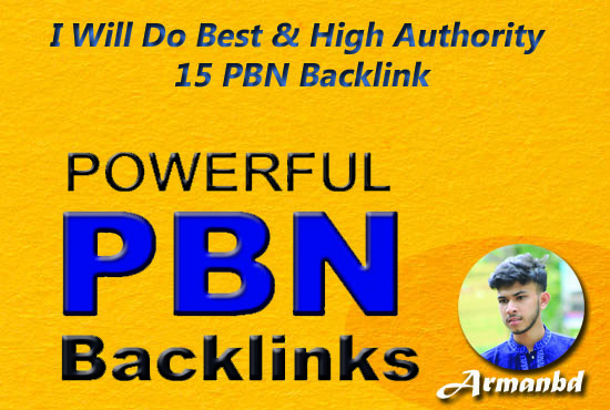 I Will Do Best & High Authority 15 PBN Backlink