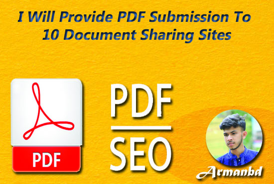 I Will Do Provide PDF Submission To 10 Document Sharing Sites