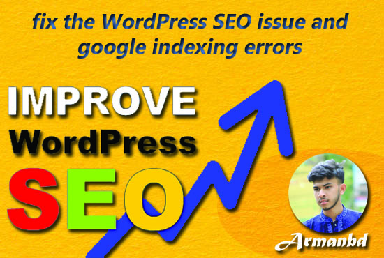 I will fix the WordPress SEO issue and google indexing errors for website ranking