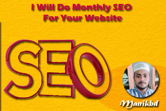 I Will Do Monthly SEO For Your Website
