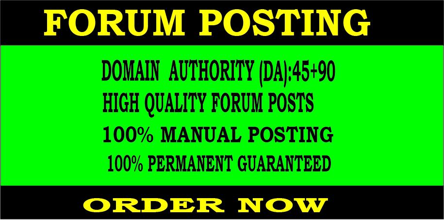 Build 30 Forum Posting Backlinks DA 45+