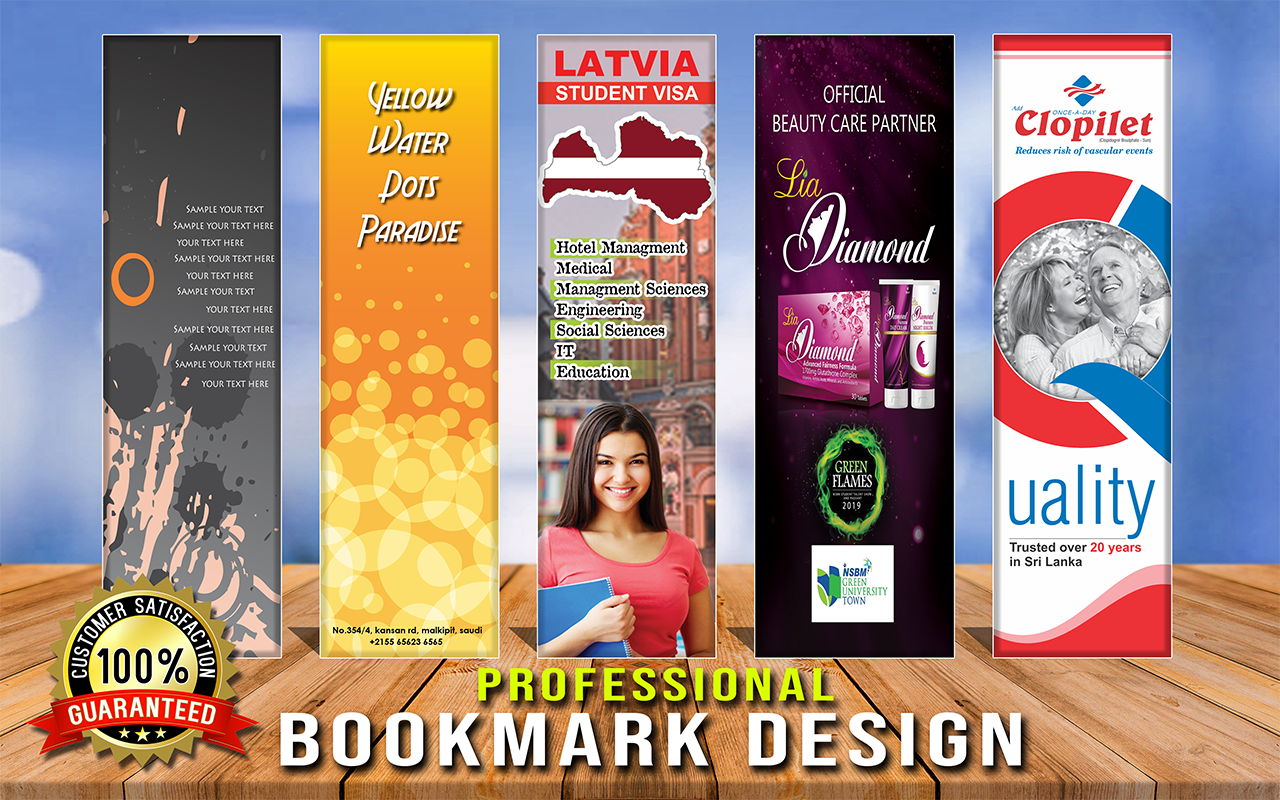 I will design creative and print ready bookmarks for you