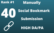 I Will create 40 High DA 40+ Social Bookmarks Submission
