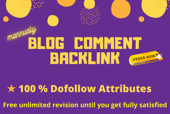 I will create high quality do follow blog comment backlinks