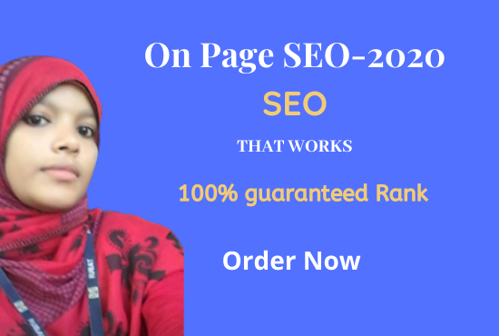 I will create On page SEO for ranking search engines