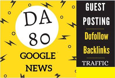 Write and Publish a content on Google news approved site Imcgrupo. com DA-80