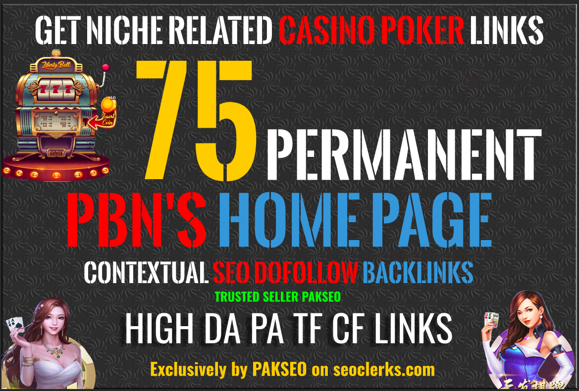 Build 100 PBN Casino Poker Bingo Gambling agen judi BLOG POST All are Unique Domain PBNs Backlinks