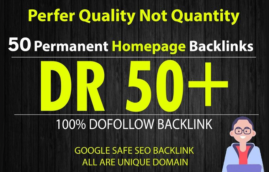 Build 50 Permanent DR 50+ Homepage PBN Dofollow Backlinks