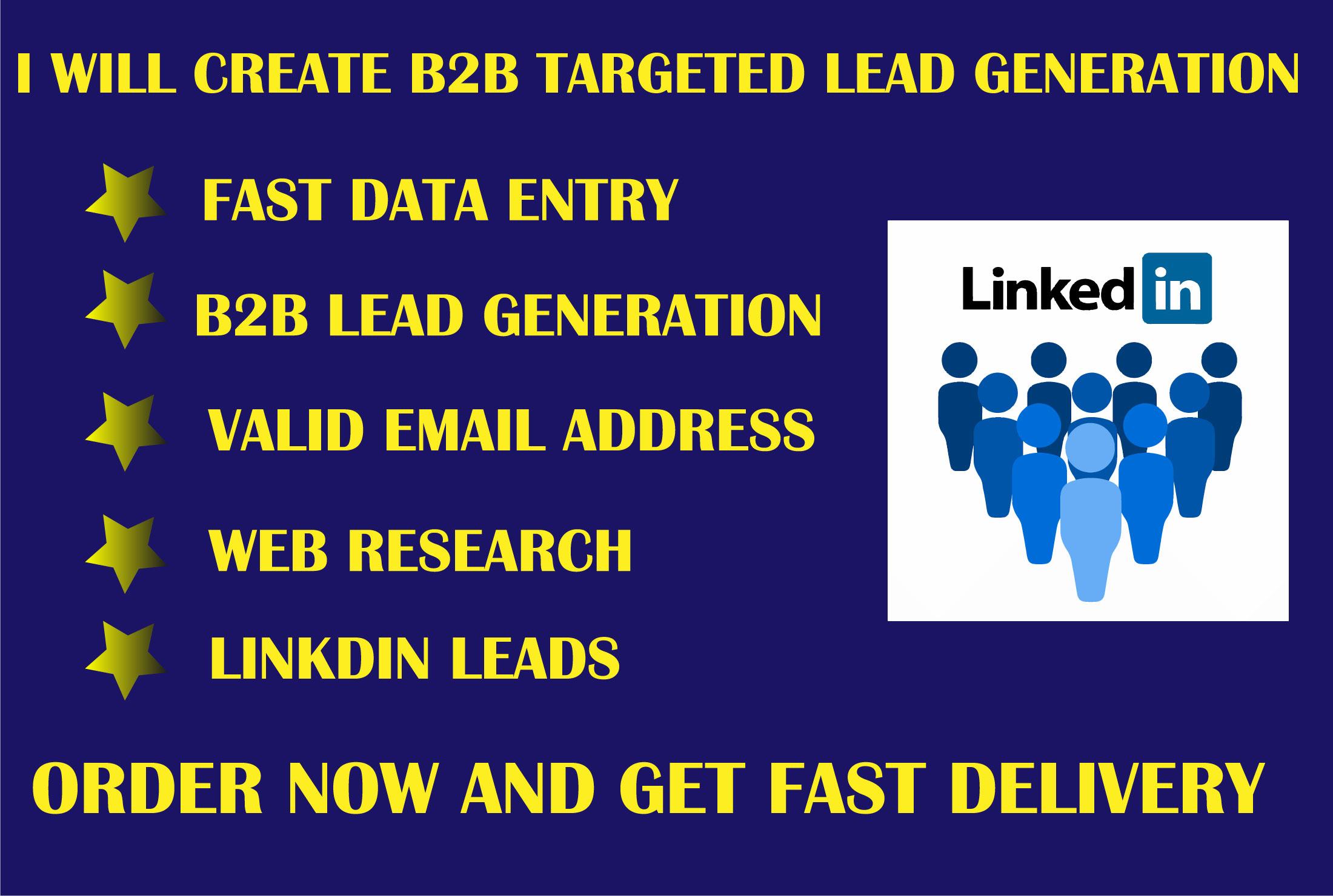 I will create b2b lead generation and build email list