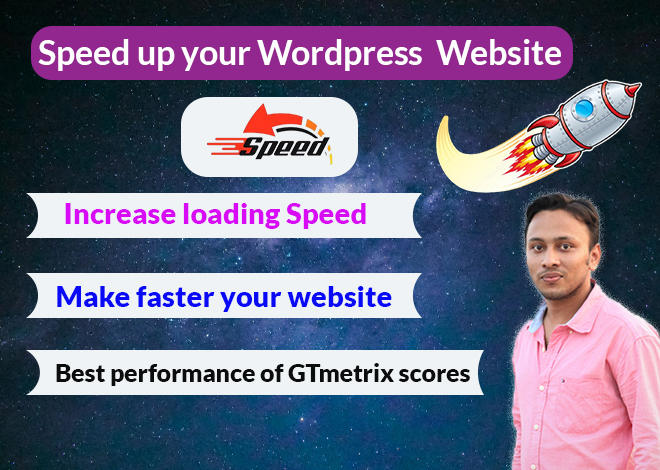 I will do speed up your WordPress site using speed optimization and page loading speed