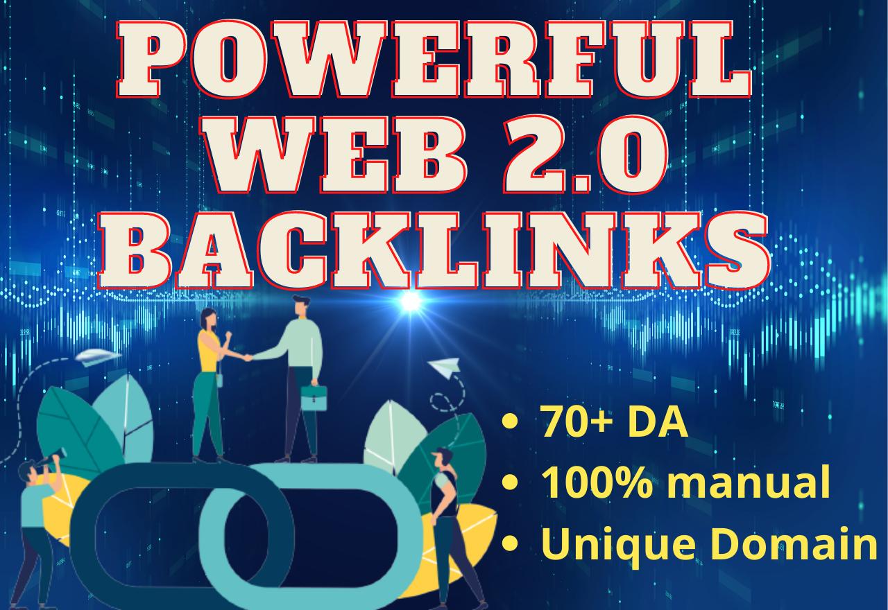 I will build 30 high DA dofollow web 2.0 backlinks
