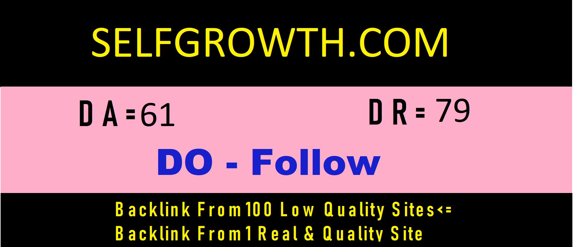 Publish a guest post on selfgrowth .com DA=61