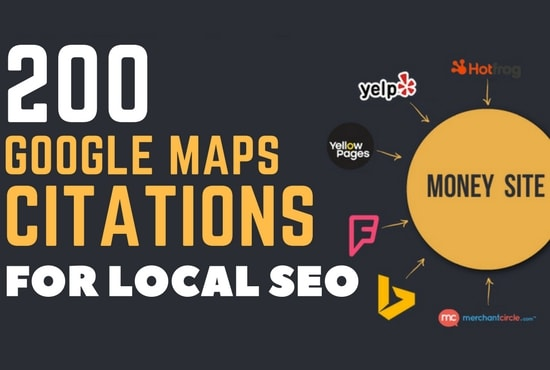 Top 200 google maps citations or local citations seo backlinks