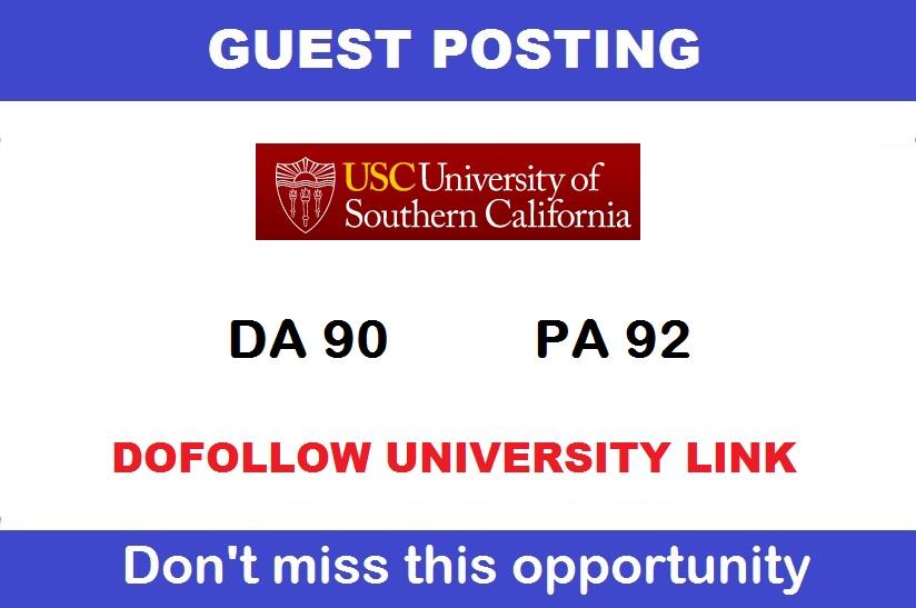 Write And Publish Dofollow Edu Guest Posts On - Usc. Edu