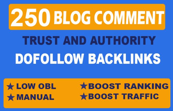 Manually Build 250 unique domains & Contextual Blog comment Backlinks DA20+