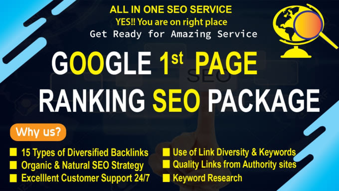 Boost your Rank on Google 1st Page With 400 High Authority Mix Backlinks