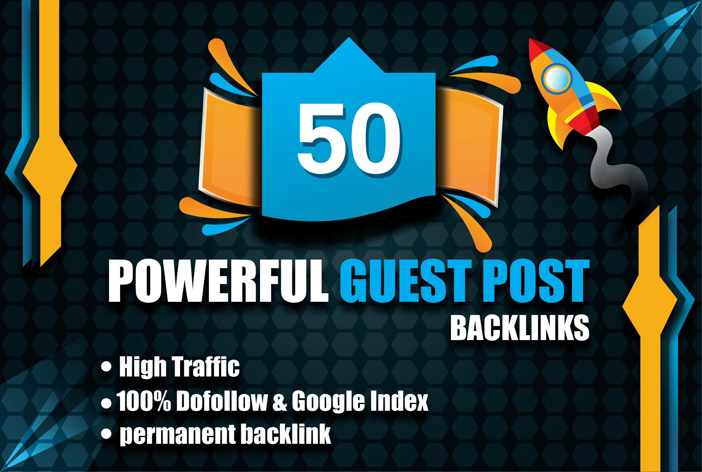50 Powerful Contexual Guest post Dofollow Backlinks - High DA PA