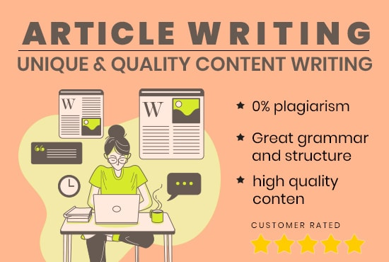 I will write professionally researched and articles writing