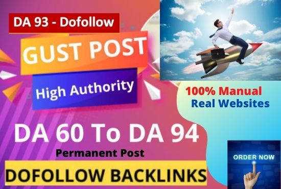 I will publish 15 High Authority Guest Posts. Writing and publishing included