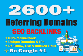 I will build safe way 2600 unique referring domain SEO backlinks for you