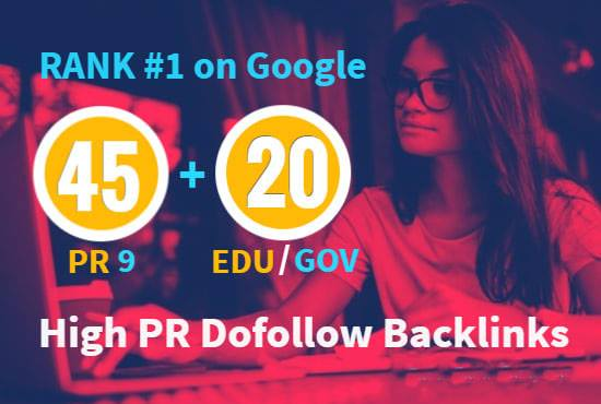 I will do elevate your google ranking with high pr SEO dofollow backlinks