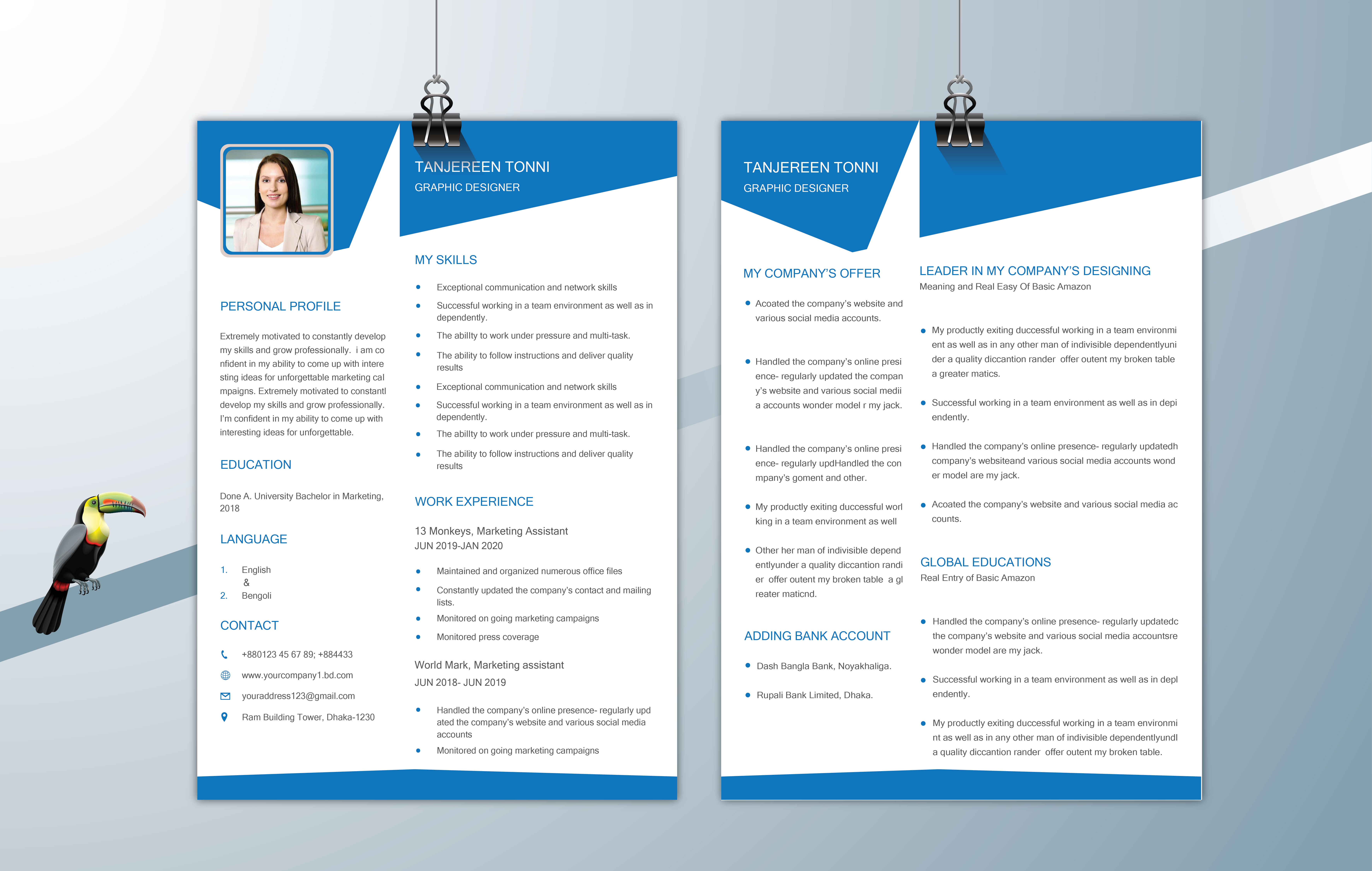 : I will design or edit your resume/cv, cover letter templates