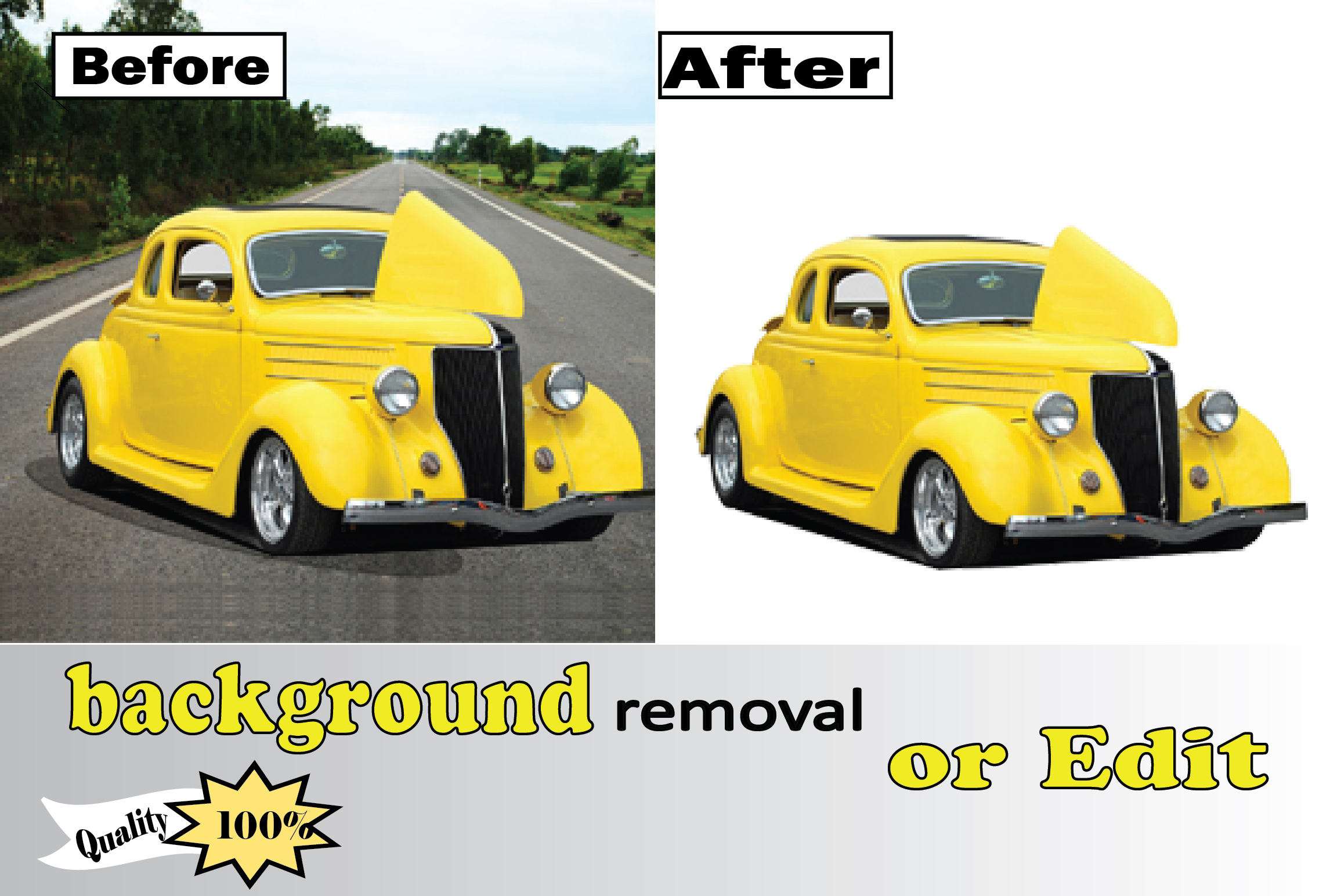 I will do bulk or background removal and fast retouching any product