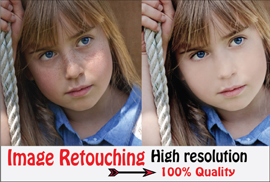 I will do quick skin retouching and magic retouch in adobe PS cc/cs6