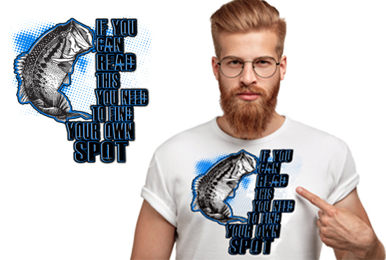 I will create eye catching bulk and custom t shirt design for print on demand business