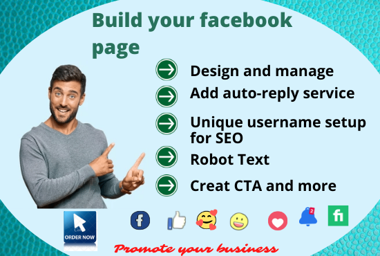 I will build your facebook business page, design and manage