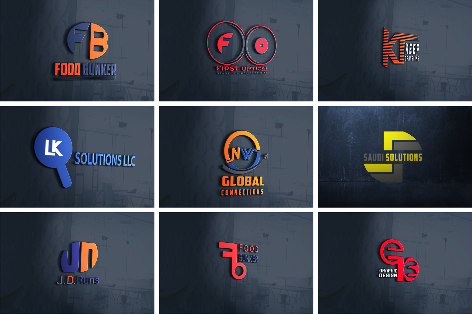 I will design business logo in 3 hours that will be modern and trendy