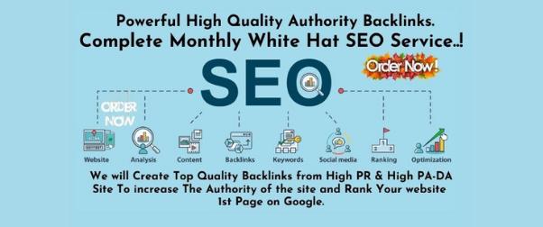 I will do complete monthly SEO service with HQ authority backlinks