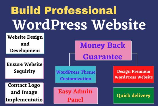 I will create wordpress website and design professionally